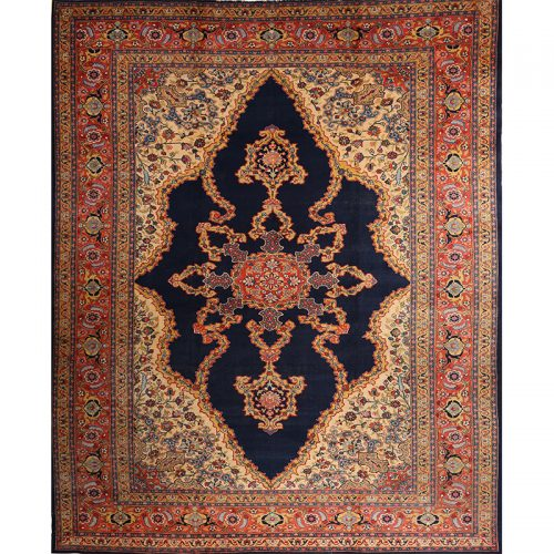 "12'0"" x 15'0"" Antique Persian Tabriz Rug - 102739"