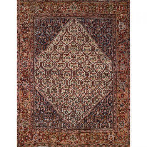"""8'10"""" x 11'5"""" Antique Persian Mahal Rug - 103531"""