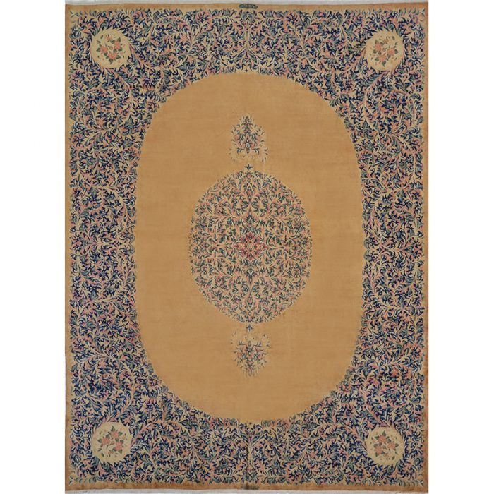 Traditional Old Handwoven Persian Kerman Area Rug 10.0x13.4 - B103571