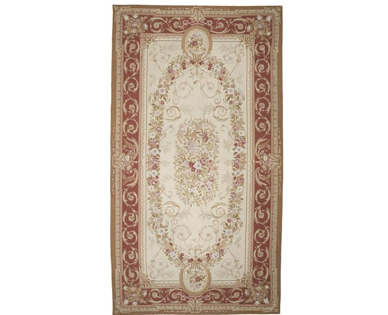 Hand Woven French Aubusson Needlepoint Rug 10 0 X 19 101455 New And Antique Persian Area Rugs In Dallas Dfw Tx Rencollection