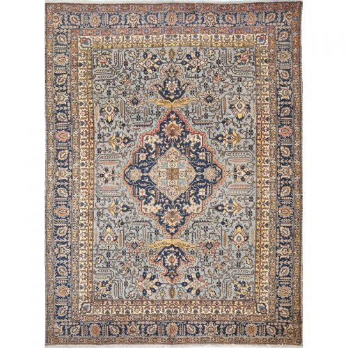 "8'8"" x 11'10"" Antique Persian Tabriz Rug - 103646"