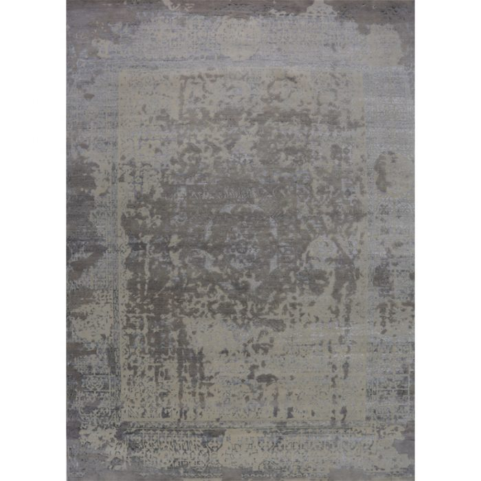Hand-woven Transitional/Modern Indo Ikat Rug 9.2 x 12.6 - 500496