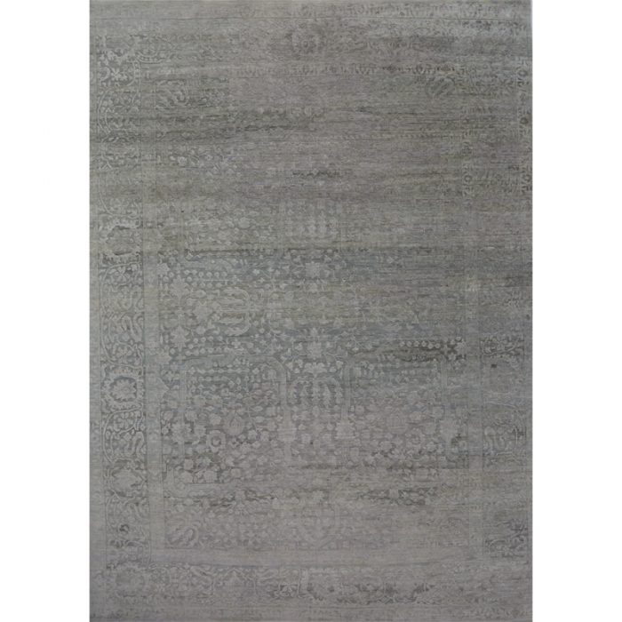 Hand-woven Transitional/Modern Indo Ikat Rug 8.9 x 11.10 - 500501