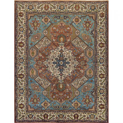 110612 - Traditional Old Hand-woven Persian Tabriz Rug 9.10 x 12.10