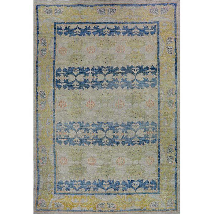 13x20 Beige Persian Oushak Rug - 110644