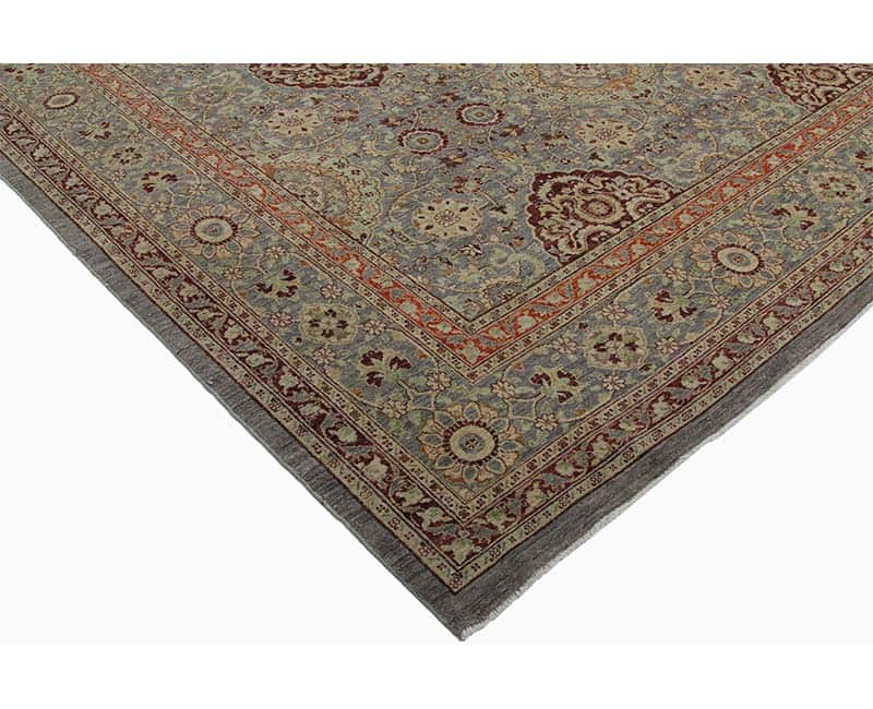 Hand Woven Vegetable Dyed Indian Agra Rug 9 7 X 14 5