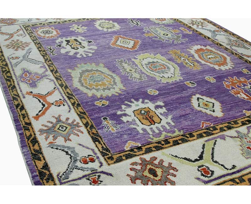 A108760 Traditional Handwoven Turkish Oushak Style Rug 8
