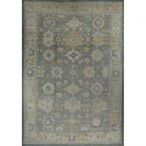 Traditional Handwoven Oushak Rug 13.4x19.3 - 110640