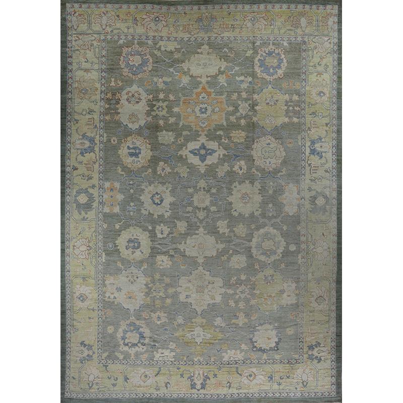 Traditional Handwoven Oushak Rug 13.4x19.3 - 110640