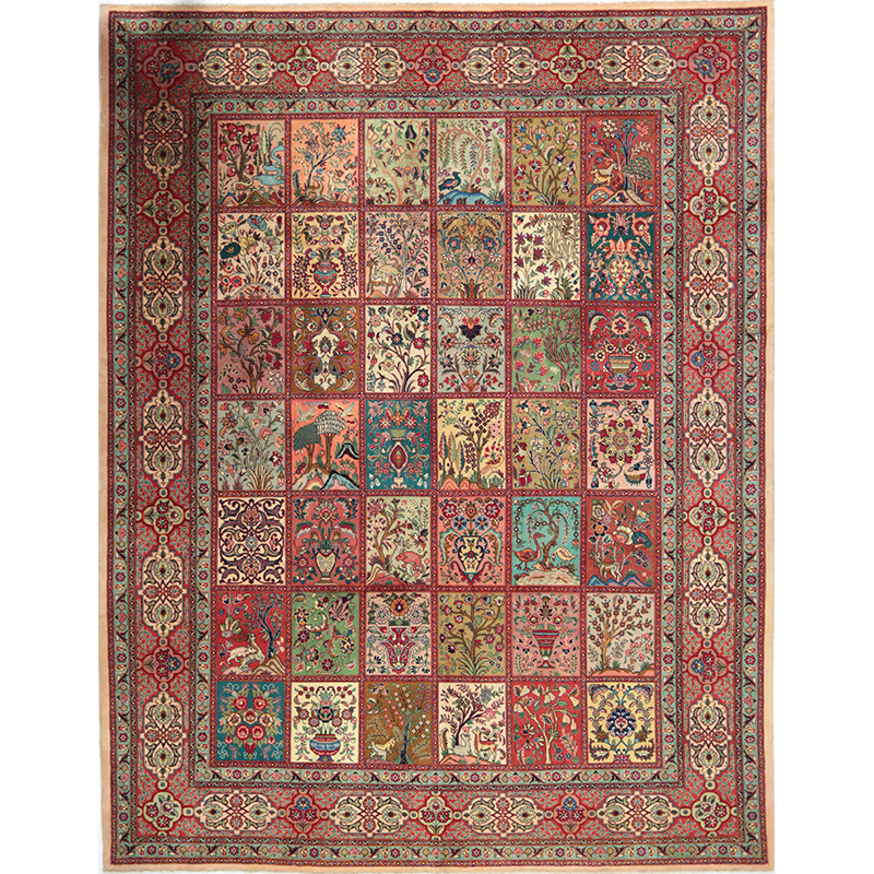 B110334 Old Handwoven Persian Tabriz Area Rug 9 8x12 7