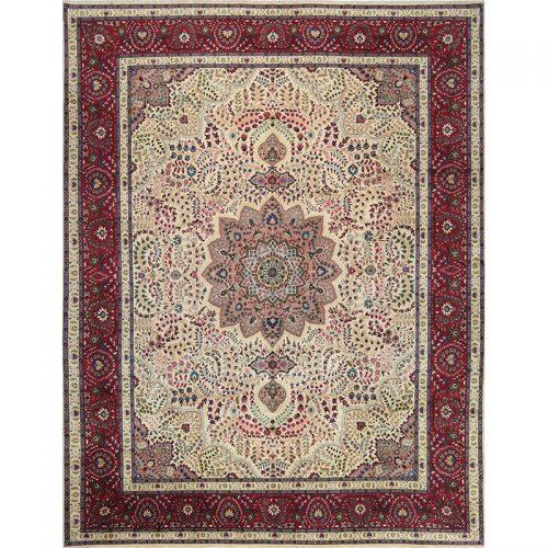 "9'9"" x 12'9"" Old Persian Tabriz Masterpiece Rug - 110610"