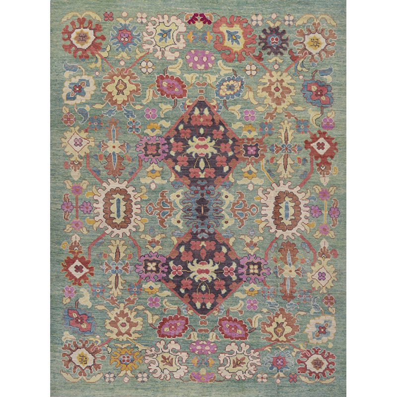 Traditional Hand-woven Persian Sultanabad Rug 8.4 X 11.0