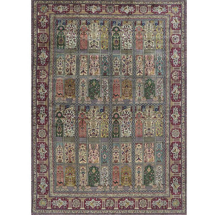 Traditional Old Hand-woven Persian Tabriz Rug 11.1 x 16.0