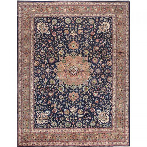 "9'7"" x 12'8"" Old Persian Tabriz Masterpiece Rug - 110551"