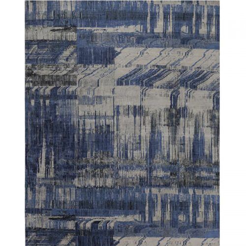 Handwoven Contemporary/Modern Abstract Indo Rug 8.0x10.0