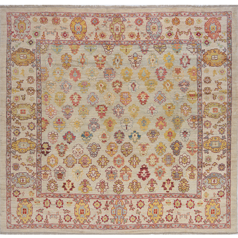 Traditional Hand-woven Persian Sultanabad Rug 11.5 x 11.11
