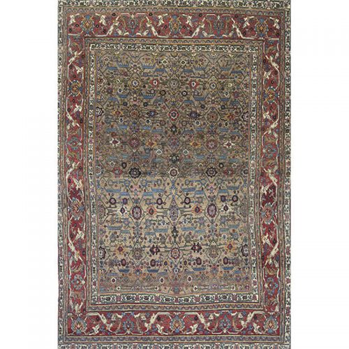 Antique Persian Bijar Area Rug 8.1x11.1 - A110335