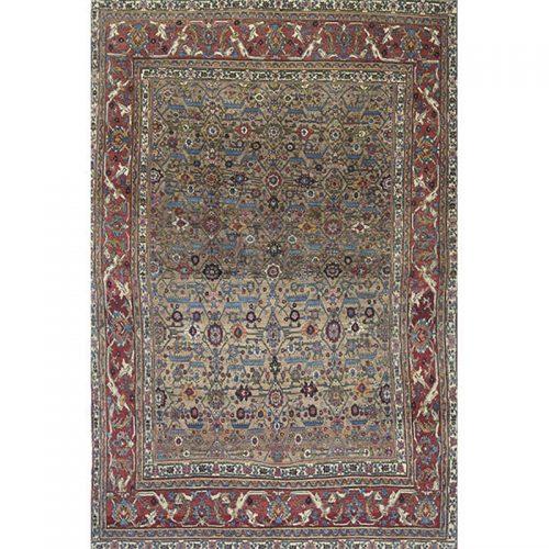 """8'1"""" x 11'1"""" Antique Persian Bijar Rug - 110335"""