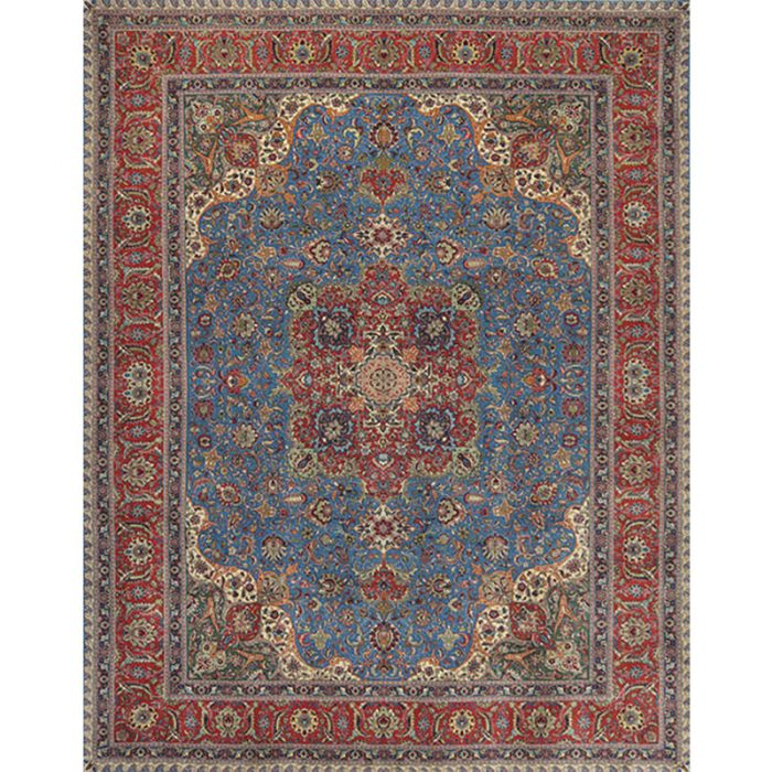 Traditional Old Hand-woven Persian Tabriz Rug 9.9 x 12.7 - 110305