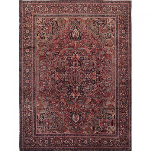 Old Hand-woven Persian Tabriz Rug 11.3 X 14.10
