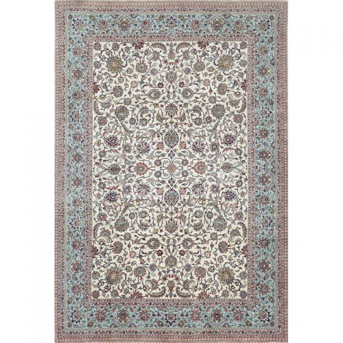 Traditional Old Hand-woven Persian Tabriz Rug 6.6 x 9.7