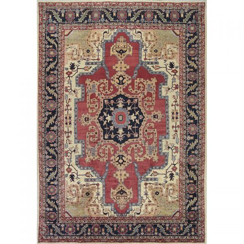 Traditional Hand-woven Persian Heriz Rug 9.10 x 14.4