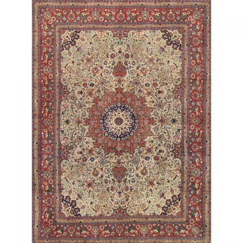 10x13 Old Persian Tabriz Area Rug - 110303