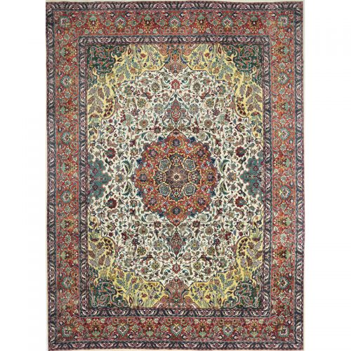 "9'9"" x 13'3"" Old Persian Tabriz Masterpiece Rug - 110372"