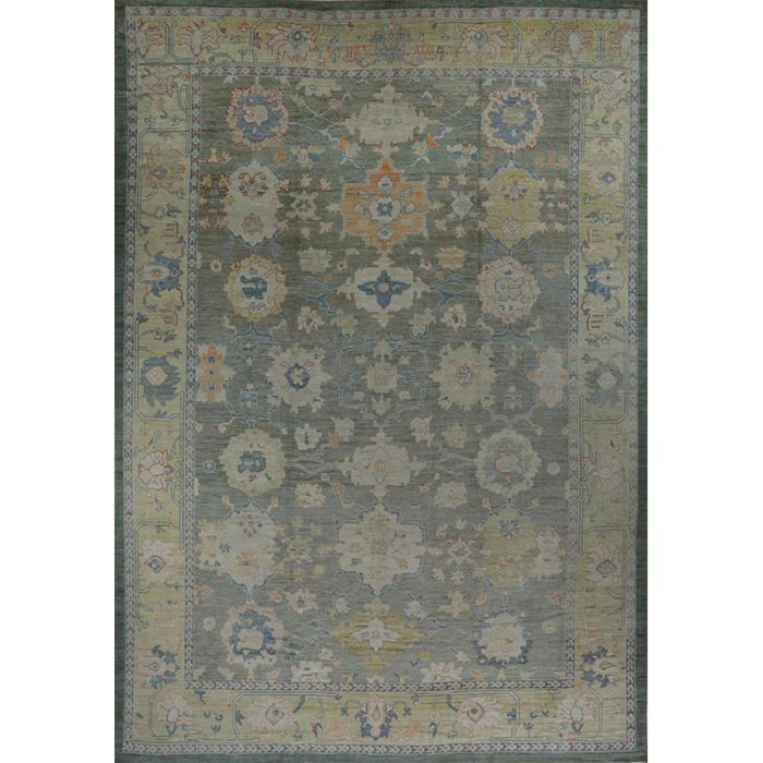 Traditional Handwoven Oushak Rug 13.4x19.3 – 110640