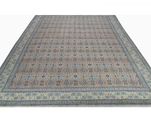 A110287 – Traditional Old Handwoven Persian Kashan Rug 14.0×20.4