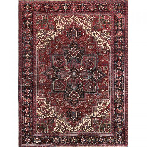 B110412 - Old Persian Heriz Area Rug 9.9x10.10