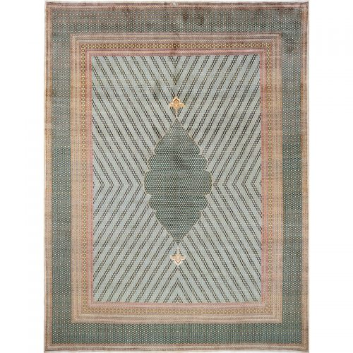 Old Persian Kerman Area Rug 10.0x13.5 - A110444