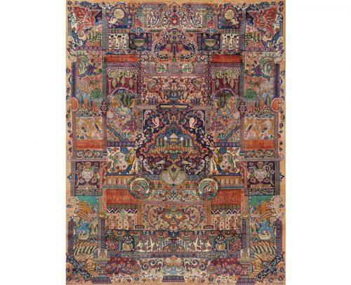 Traditional Hand-woven Persian Kashmar Rug 9.8 x 12.8 – 110440