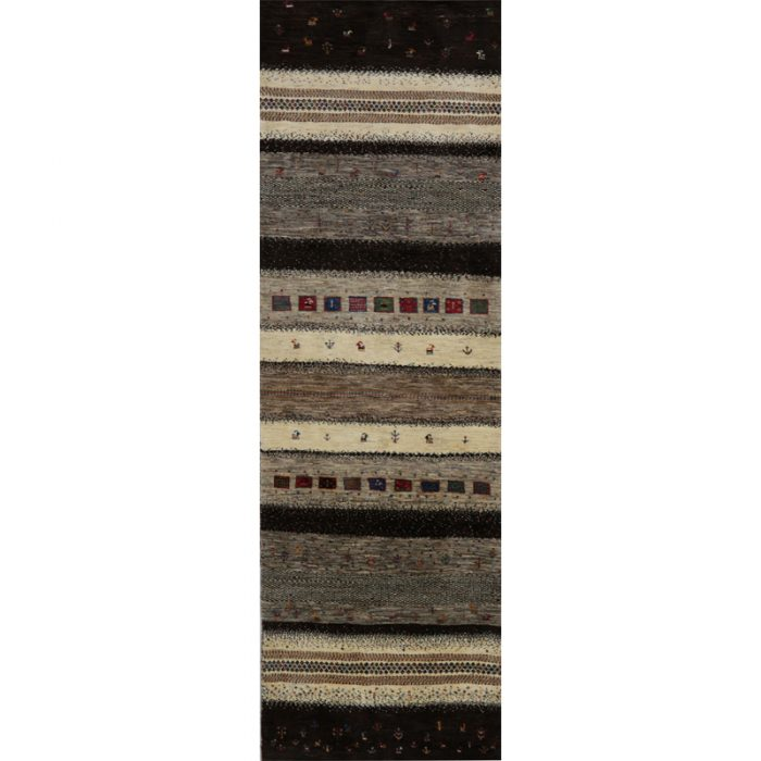 Persian Gabbeh Area Rug - 2.11 X 10.1 Multi - 109040