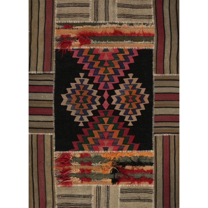 Persian Patchwork Area Rug 3.7x4.10 - 109077