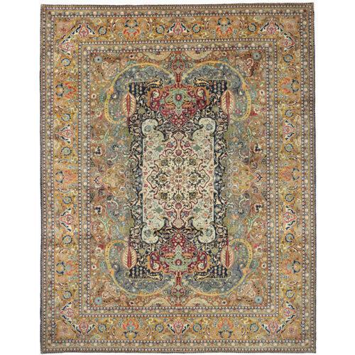 10x13 Old Persian Tabriz Masterpiece Rug - 109857