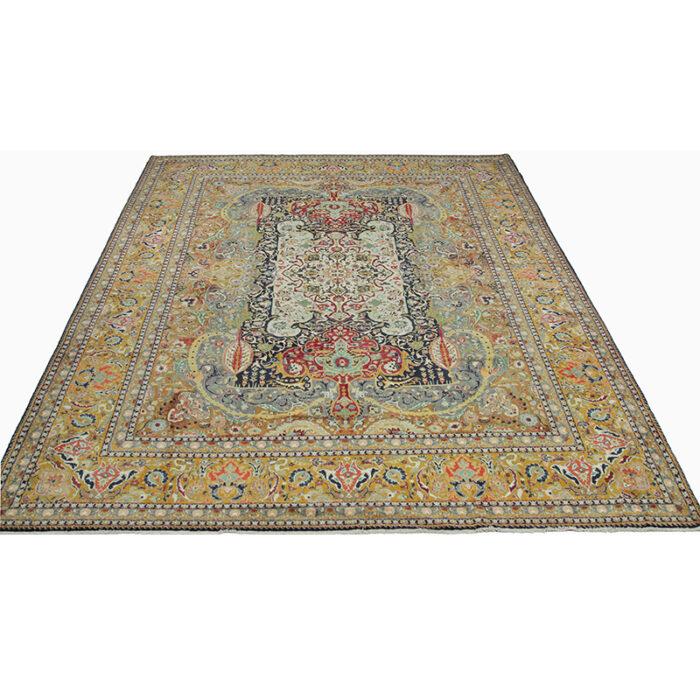 10x13 Old Persian Tabriz Masterpiece Rug - 109857b