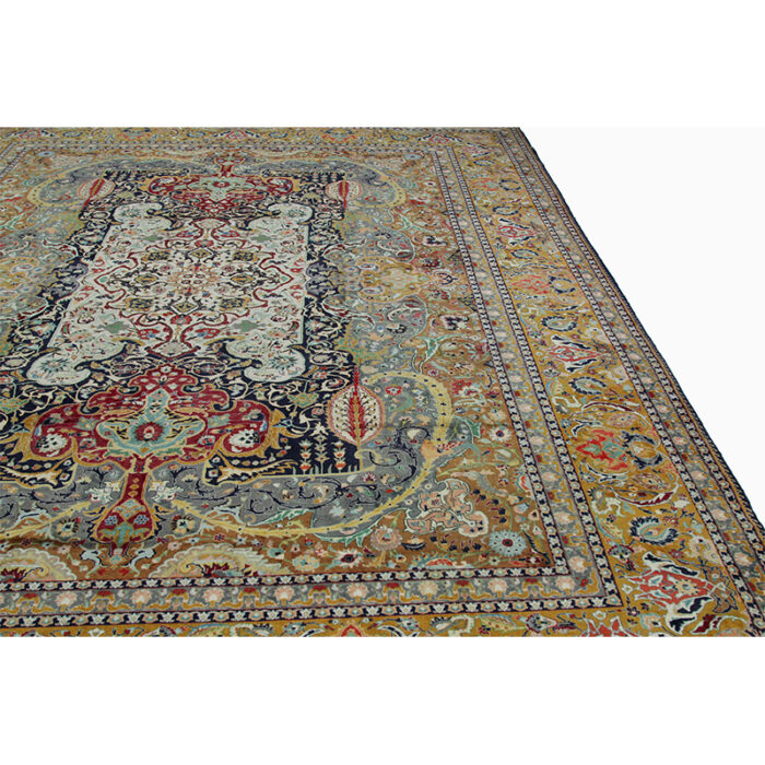 10x13 Old Persian Tabriz Masterpiece Rug - 109857e