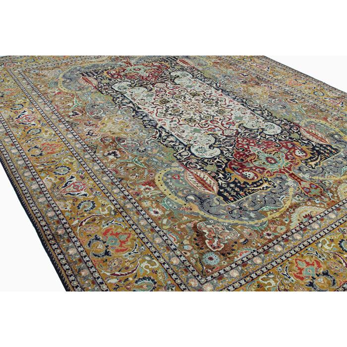10x13 Old Persian Tabriz Masterpiece Rug - 109857f