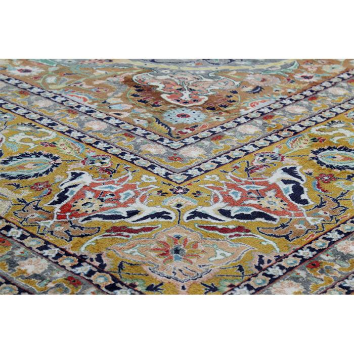 10x13 Old Persian Tabriz Masterpiece Rug - 109857h