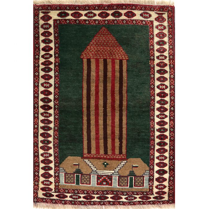 Persian Turkeman Area Rug 2.3x3.1 - A109383