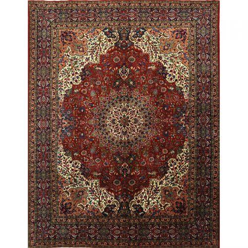 "10'1"" x 12'10"" Old Persian Tabriz Masterpiece Rug - 110367"