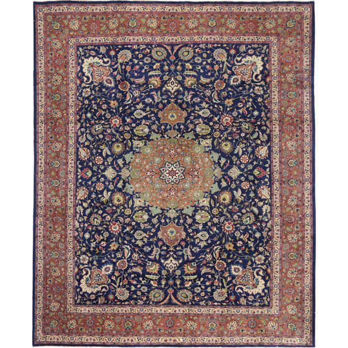 "9'8"" x 12'0"" Old Persian Tabriz Masterpiece Rug - 110517"