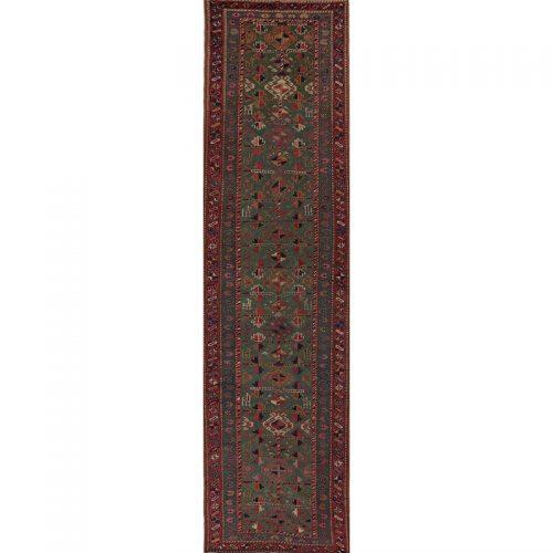 "3'0"" x 12'3"" Antique Persian Kordish Runner - 110238"