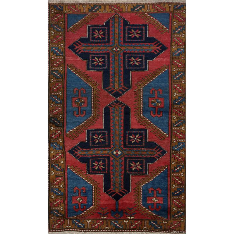 Persian Azarbaijan Area Rug - 3.6 X 5.10 Red_Brown - 109063