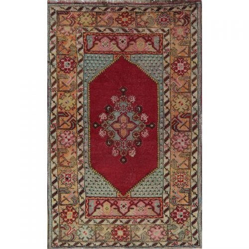 Antique Turkish Oushak Area Rug 3.4x5.5 - A109072