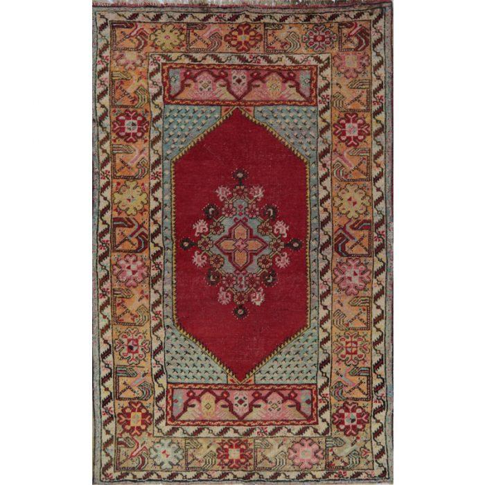 3x5 Antique Red Turkish Oushak Rug- 109072