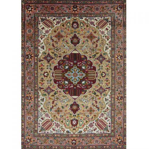 "3'4"" x 5'1"" Old Masterpiece Persian Tabriz Rug - 110383"