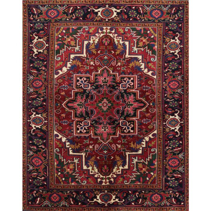 Old Persian Heriz Area Rug 4.10x6.1 - A110560