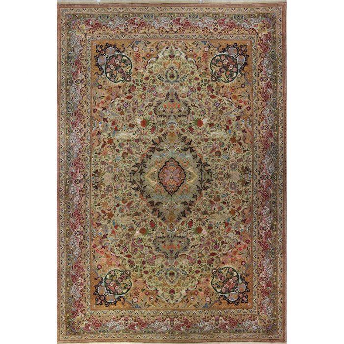 13x20 Green Old Persian Tabriz Masterpiece Rug - 109352
